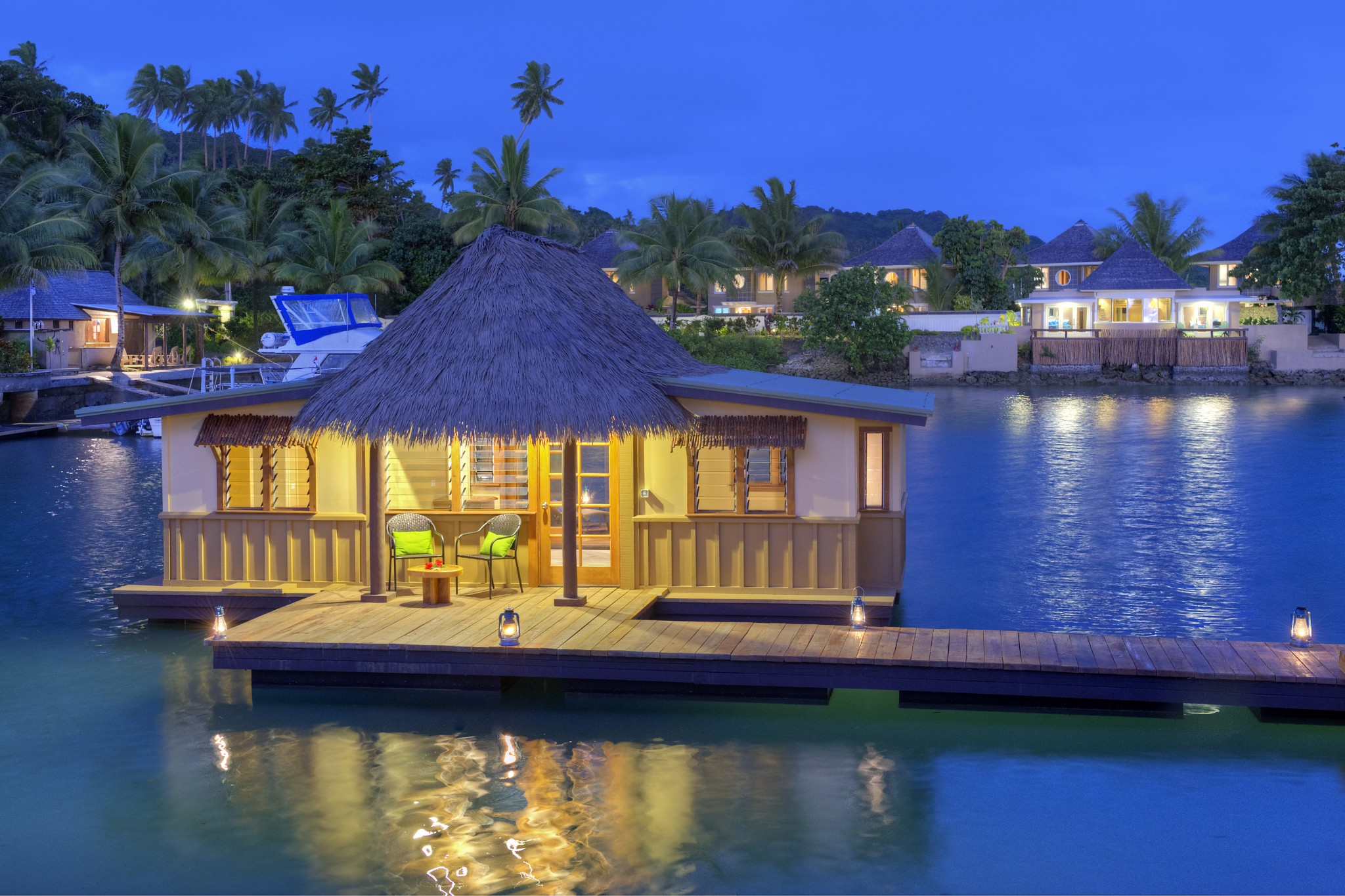 Staying in an overwater bungalow in fiji koro sun Overwater bungalows fiji