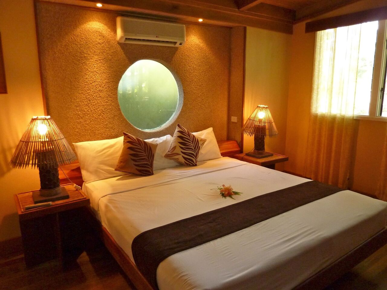 inclusive fiji vacation  bedroom bure koro sun