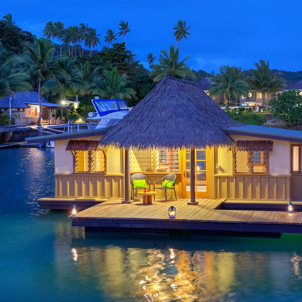 over water villas fiji