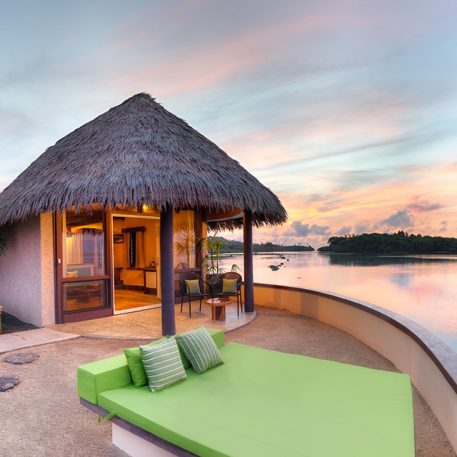 water bungalows fiji